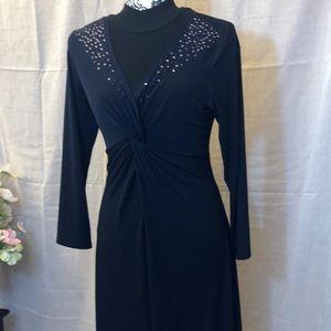 Donna Morgan maxi dress in navy blue size 12.